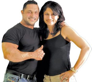 Kaizzad with wife Kalyani, his pillar of strength